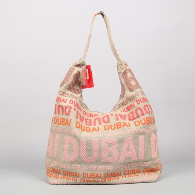 [4만마켓] 로빈루스 두바이 캔버스호보백 핑크