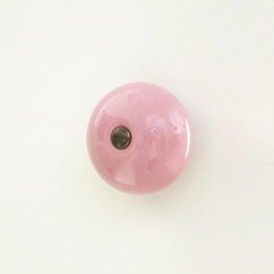세라믹 가구손잡이/도어납(doorknob)-캔디 라이트핑크 1241