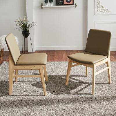유럽형 고무나무 식탁 의자 2개 FN701-3