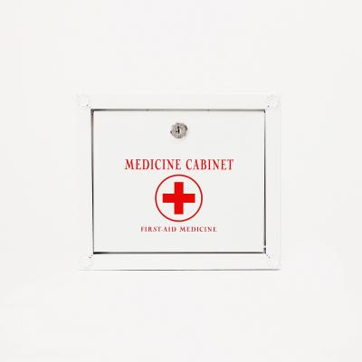 (khhl187)메탈 약보관함(소)(WHITE)