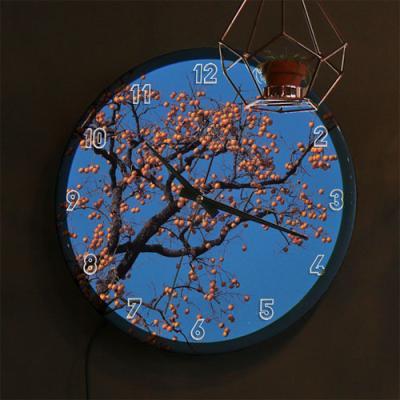 nf736-LED시계액자35R_풍요로운감나무