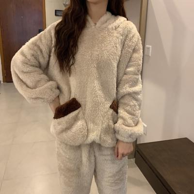 여성 홈웨어 잠옷 세트 수면 파자마 페트 베어