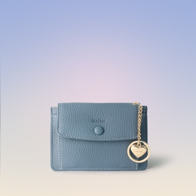 [이니셜 커스텀] Big pocket point wallet _ Sky blue