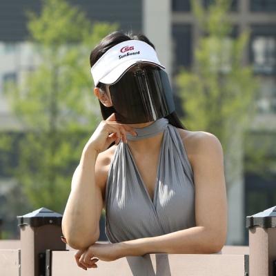 편광선글라스 썬 페이스가드 캡 모자부착용