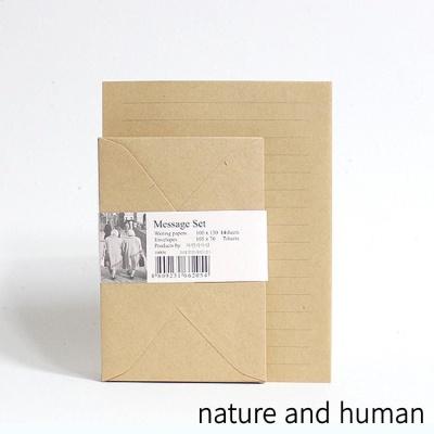 자연과사람 CL크라프트 라인 편지지 (소)