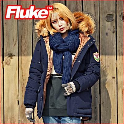 [플루크 패딩] 로체샤르 헤비 라쿤 야상 패딩 점퍼 네이비 FPJ1504-NAVY FLUKE 15FW
