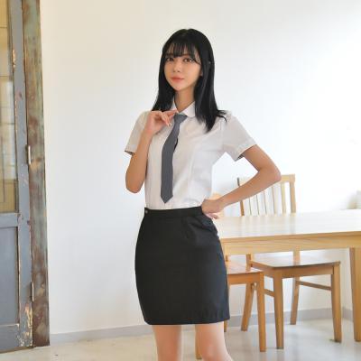 [하복][허리조절] 스판 차콜 교복치마 교복 스커트