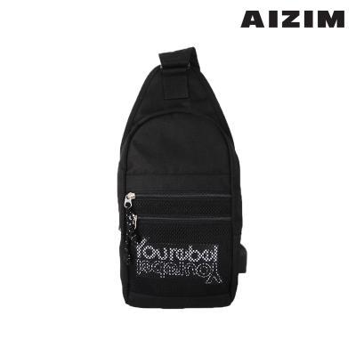 AIZIM 데일리 슬링백 운동 패션 가방 ASM009MBK