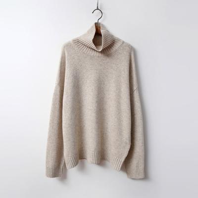 Cashmere Wool Turtleneck Sweater
