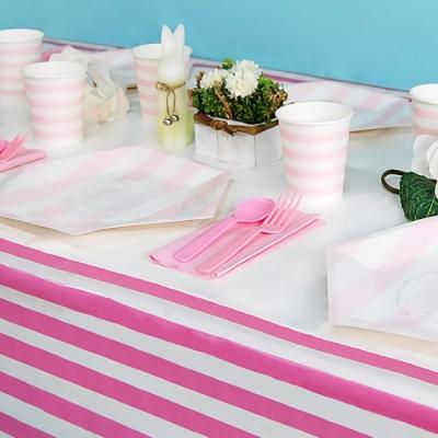테이블보 줄무늬 핑크 [210x110cm]