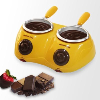 초콜릿중탕기 멜팅스타 - 2구 옐로우