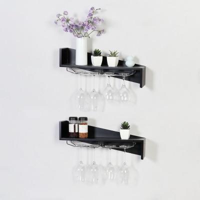 우드 Z자 인테리어 와인잔걸이 벽선반 600-2색상