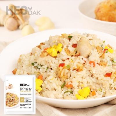 [허닭] 닭가슴살 갈릭곤약볶음밥 250g