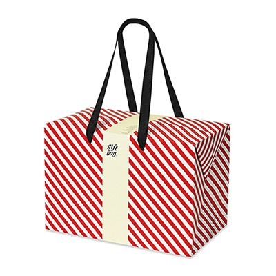 PLUSBOX GIFT BAG (Red stripes) (쇼핑백/포장박스)