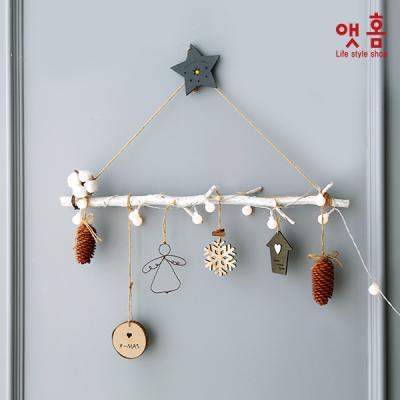 앳홈 우드프레임 1단 크리스마스 벽트리