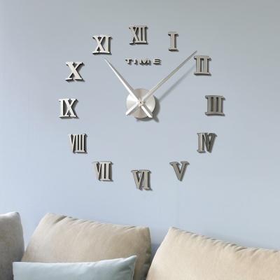 DIY 로마숫자 붙이는 벽시계(실버)