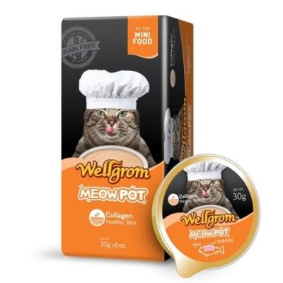 맛있는 고양이간식 미우팟 연어(30g 6개)영양듬뿍껍질