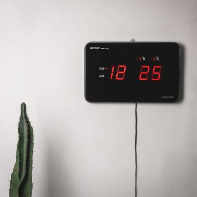 오리엔트 뉴레드 LED OT825RD 날짜표시 디지털벽시계