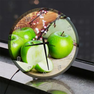 ng370-LED시계액자35R_풋사과와꽃