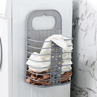 벽걸이 접이식 세탁바구니