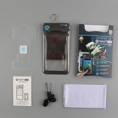 엠팩플러스 D30 수심40m 수중터치 스마트폰 방수팩