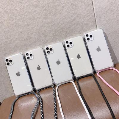 갤럭시S20/넥스트랩 목걸이줄 투명 젤리 휴대폰케이스