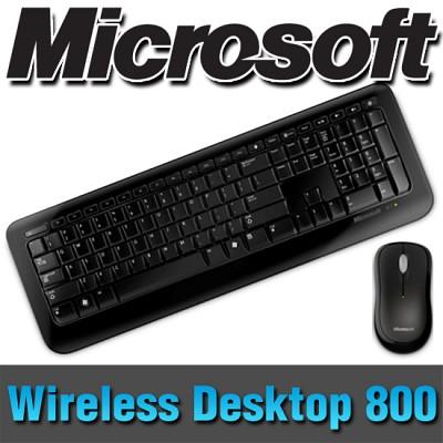 마이크로소프트 코리아 정품 Wireless Desktop 800/무선키보드+마우스 세트/2.4GHz/초소형수신기