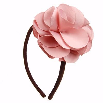 [헤어보우]Lovely Flower 헤어밴드-Indi Pink