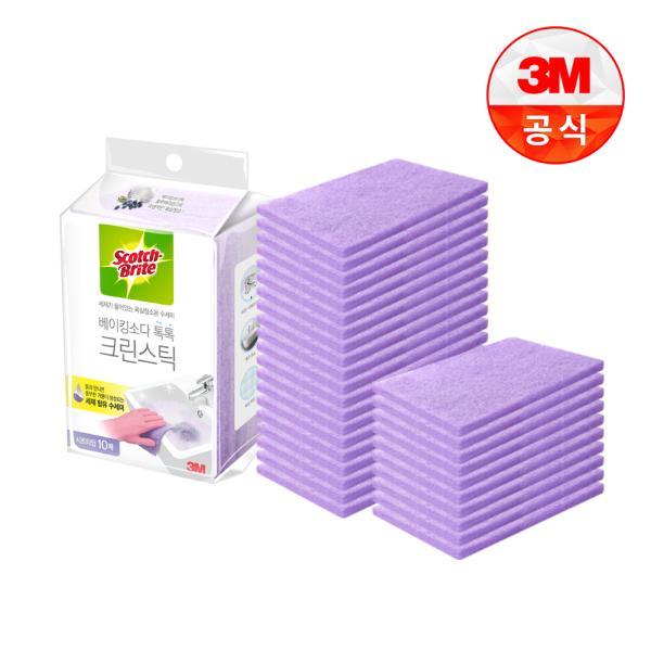 [3M]크린스틱 시트타입 욕실청소 10입 3개
