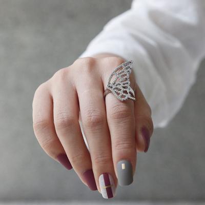 바이데이지 SR037 나비 큐빅 포인트 반지