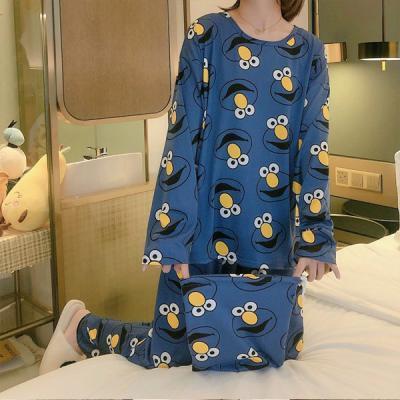 꼬불꼬불 긴팔 귀여운 캐릭터 잠옷 홈웨어 파자마세트