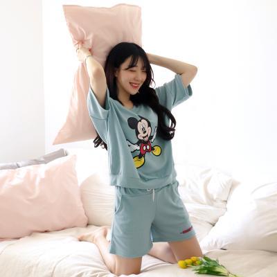 테라우드 여성용 디즈니 반팔 잠옷 파자마 상하세트