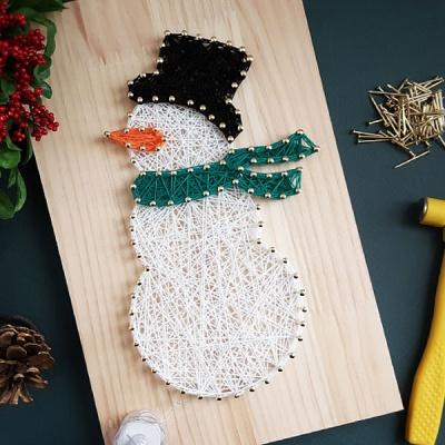 눈사람 스트링아트(우드/LED)