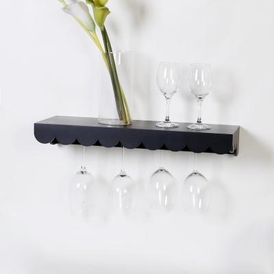 우드 데이지 와인잔걸이 선반 600-블랙