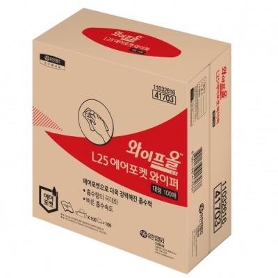 [유한킴벌리] 와이프올L25 어에포켓 와이퍼중형200매 41703 [박스/4] 330907