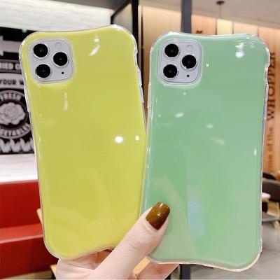 아이폰11 pro max 컬러 무지 글리터 범퍼 젤리 케이스