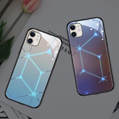 아이폰XR XS MAX X 별 LED 발광 강화유리 하드 케이스
