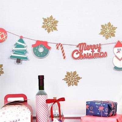 크리스마스 종이 가랜드 꾸미기 파티 데코 이벤트