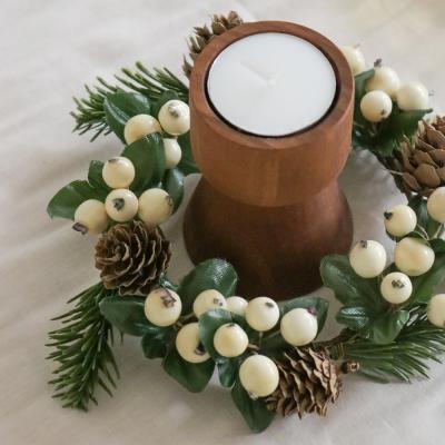 폴 체스트넛 베리 리스(크리스마스 장식/소품)