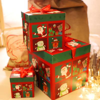 크리스마스 3단 종이상자 세트 (좋은친구들)