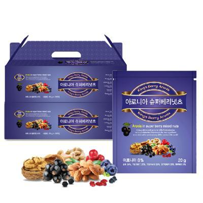 아로니아 슈퍼베리넛츠20g x 50봉 견과선물세트