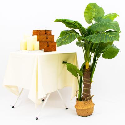 인테리어 데코 인조 나무 조화 화분 (알로카시아)