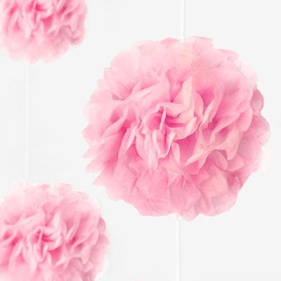 베이비 핑크 꽃볼 가랜드 (1개)