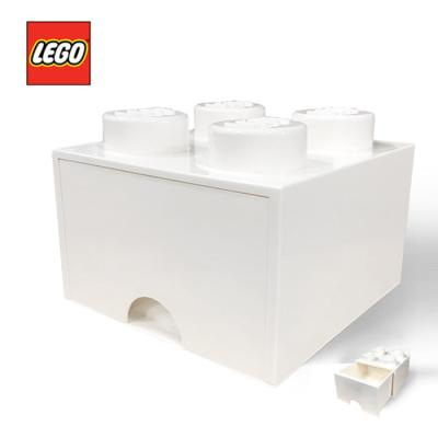 [LEGO]레고 블럭 서랍 정리함 4구_화이트/ 서랍형