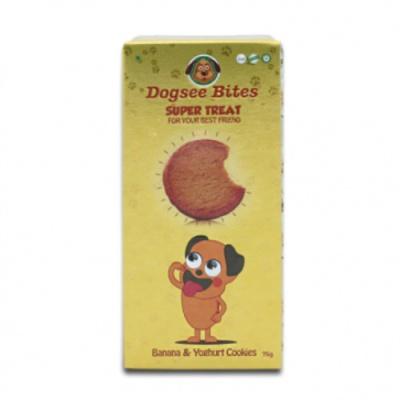 Dogsee Bites 바나나-요거트 쿠키 75g (pt)
