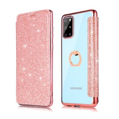 아이폰11 PRO MAX 핑거링 글리터 카드지갑 투명케이스