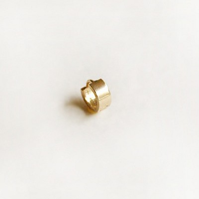10k gold ring earring-Large