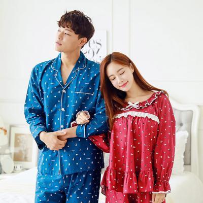 [쿠비카]큐티 도그 라운드 투피스 커플잠옷 WM033