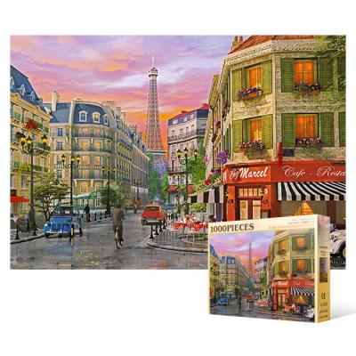 1000피스 직소퍼즐 - 파리 비오는 날의 풍경