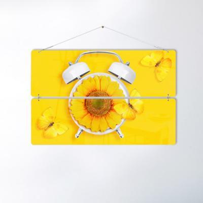 nk747-노란색배경에노란색해바라기꽃(2단대형)